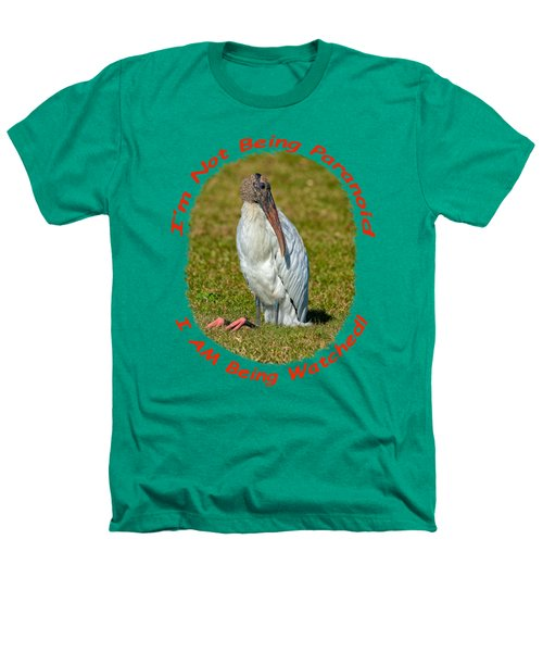 Paranoid Woodstork Heathers T-Shirt by John M Bailey