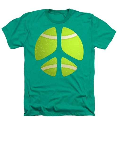 Tennis Ball Peace Sign Heathers T-Shirt