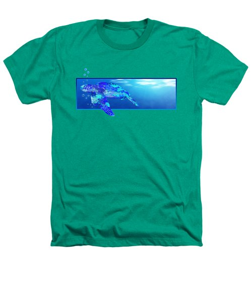 Underwater Sea Turtle Heathers T-Shirt by Chris MacDonald