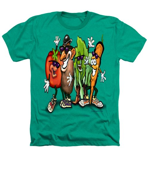 Veggies Heathers T-Shirt by Kevin Middleton