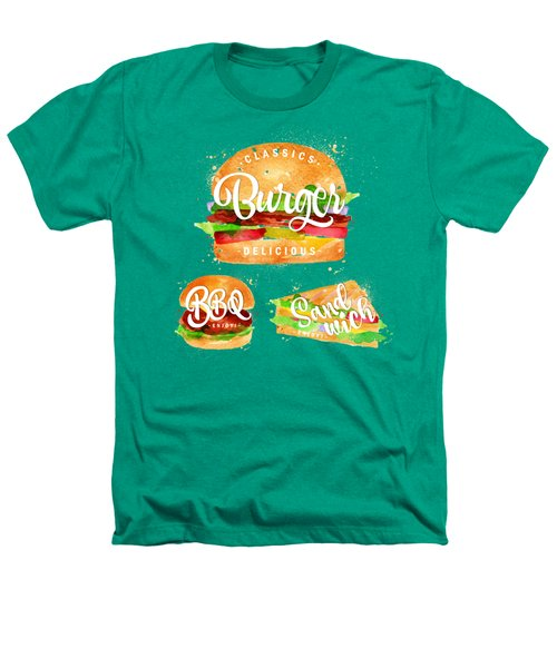 Vintage Burger Heathers T-Shirt by Aloke Creative Store