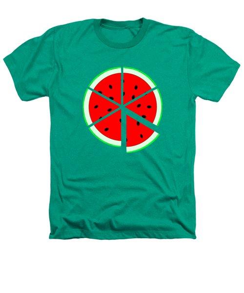 Watermelon Wedge Heathers T-Shirt by Susan Eileen Evans