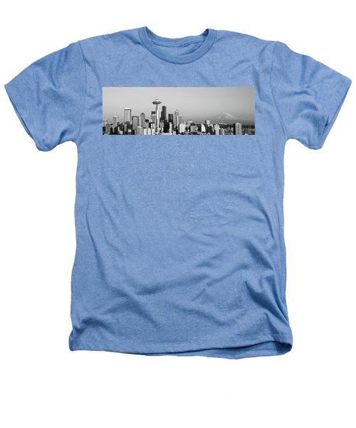 Skyline, Seattle, Washington State, Usa Heathers T-Shirt by Panoramic Images