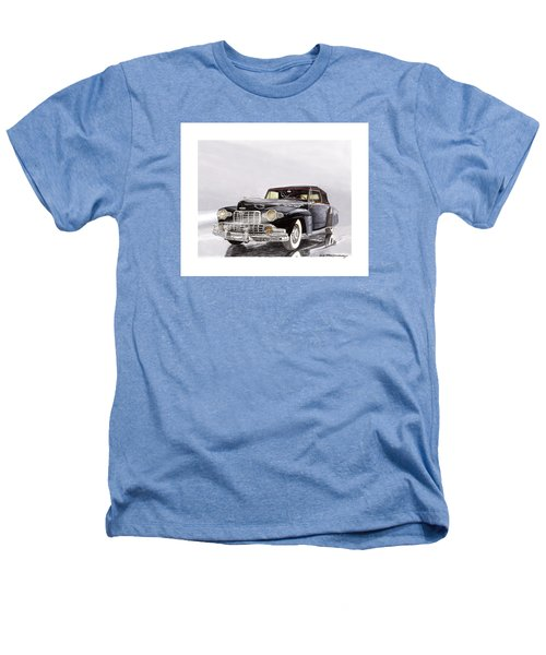 1946 Lincoln Continental Convertible Foggy Reflection Heathers T-Shirt by Jack Pumphrey