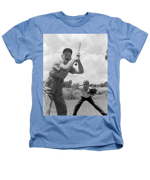 1950s Grandfather At Bat With Grandson Heathers T-Shirt