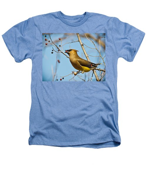 Cedar Waxwing With Berry Heathers T-Shirt