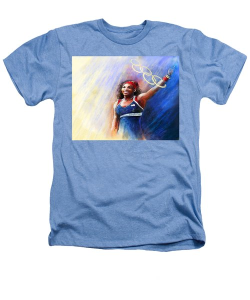 2012 Tennis Olympics Gold Medal Serena Williams Heathers T-Shirt by Miki De Goodaboom