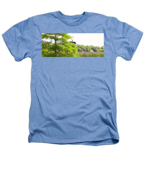 Anhinga Anhinga Anhinga On A Tree Heathers T-Shirt by Panoramic Images