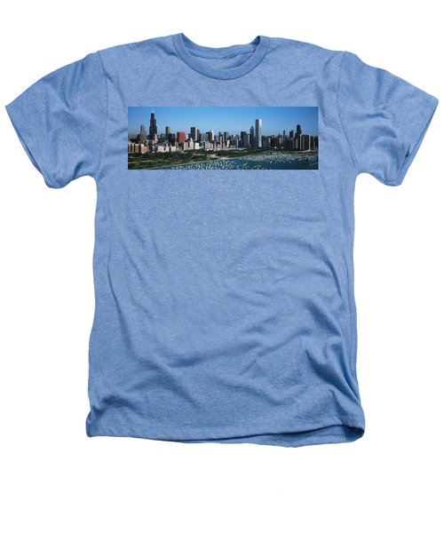 Aerial View Of Buildings In A City Heathers T-Shirt by Panoramic Images