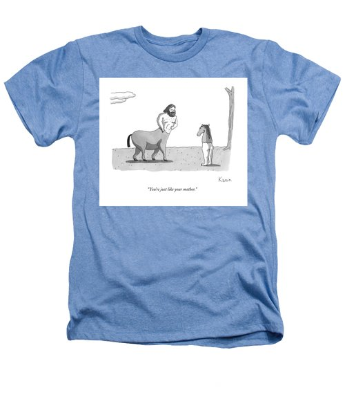 A Centaur Angrily Talks To A Creature Who Heathers T-Shirt