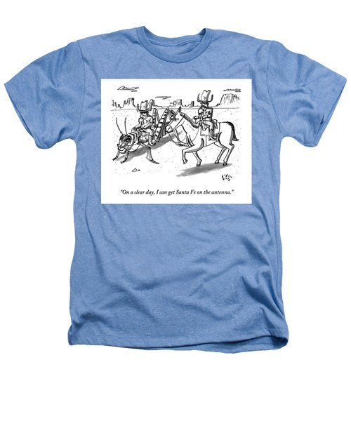 A Cowboy Rides A Horse Next To Another Cowboy Who Heathers T-Shirt