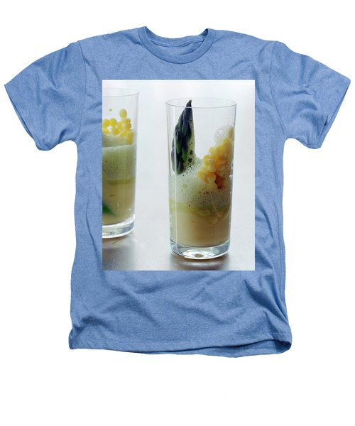 A Drink With Asparagus Heathers T-Shirt by Romulo Yanes