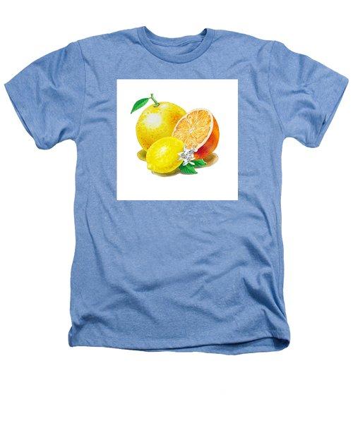 A Happy Citrus Bunch Grapefruit Lemon Orange Heathers T-Shirt
