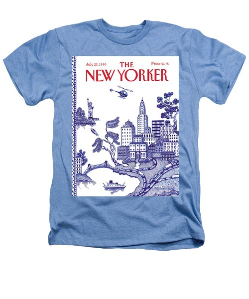 A View Of New York City Heathers T-Shirt