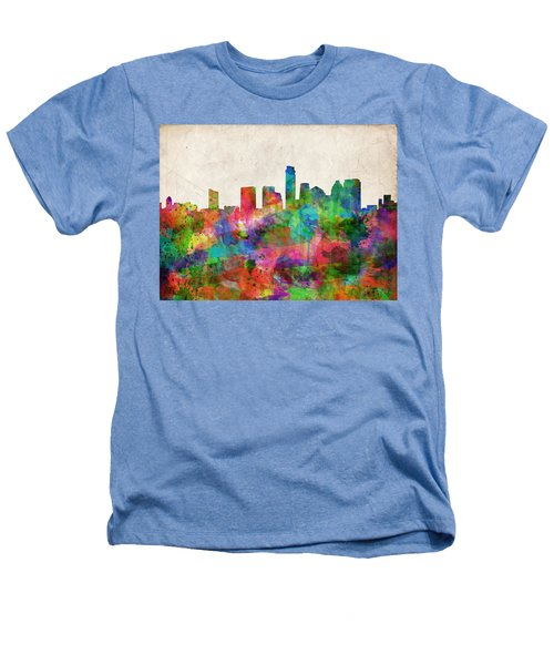 Austin Texas Abstract Panorama 4 Heathers T-Shirt