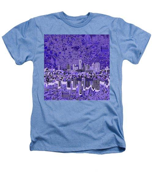 Austin Texas Skyline 4 Heathers T-Shirt by Bekim Art