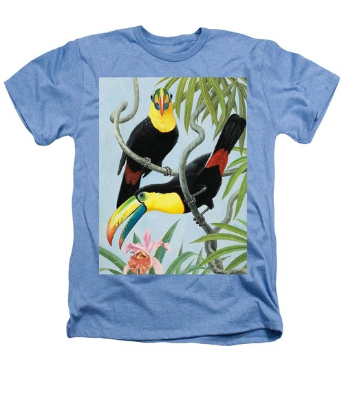 Big-beaked Birds Heathers T-Shirt by RB Davis