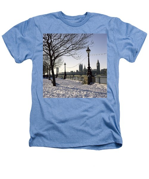Big Ben Westminster Abbey And Houses Of Parliament In The Snow Heathers T-Shirt by Robert Hallmann