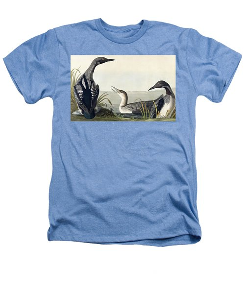 Black Throated Diver  Heathers T-Shirt