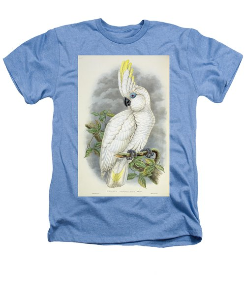 Blue-eyed Cockatoo Heathers T-Shirt by William Hart