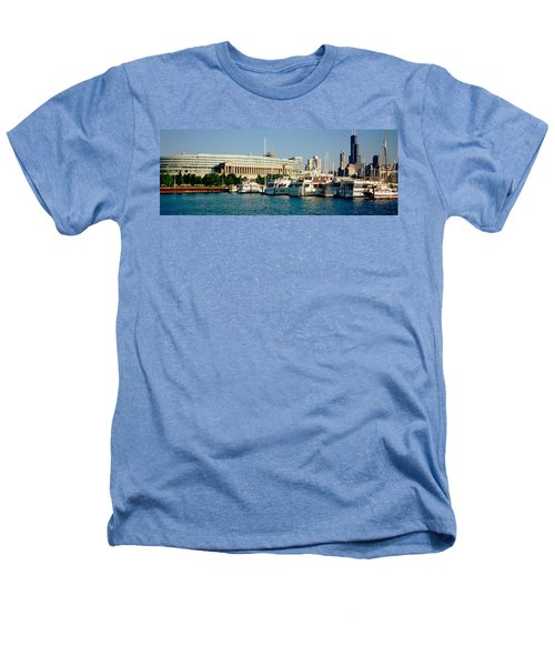 Boats Moored At A Dock, Chicago Heathers T-Shirt by Panoramic Images