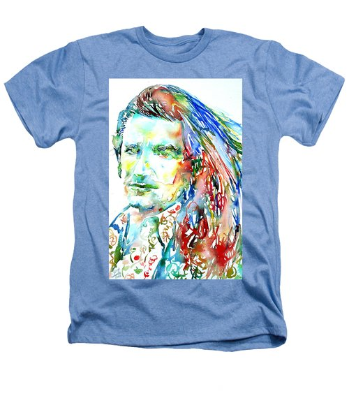 Bono Watercolor Portrait.2 Heathers T-Shirt
