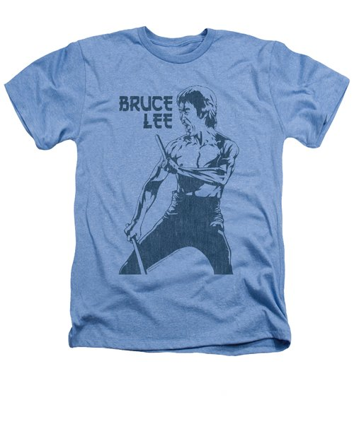 Bruce Lee - Fighter Heathers T-Shirt by Brand A