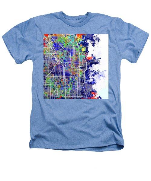 Chicago Map Color Splash Heathers T-Shirt