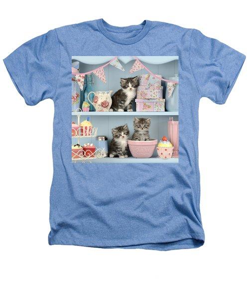 Baking Shelf Kittens Heathers T-Shirt by Greg Cuddiford