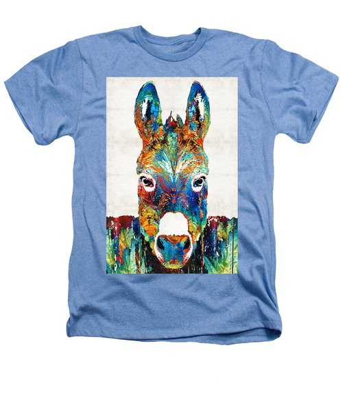 Colorful Donkey Art - Mr. Personality - By Sharon Cummings Heathers T-Shirt by Sharon Cummings