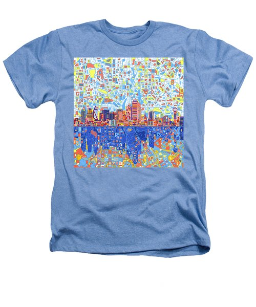 Dallas Skyline Abstract 5 Heathers T-Shirt