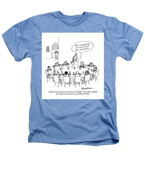 Despite Some Initial Reservations Heathers T-Shirt by J.B. Handelsman