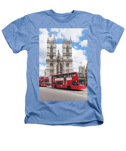 Double-decker Buses Passing Heathers T-Shirt by Panoramic Images
