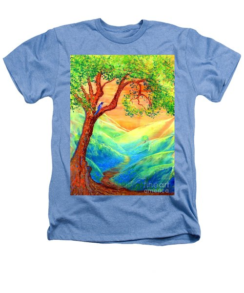 Dreaming Of Bluebells Heathers T-Shirt by Jane Small