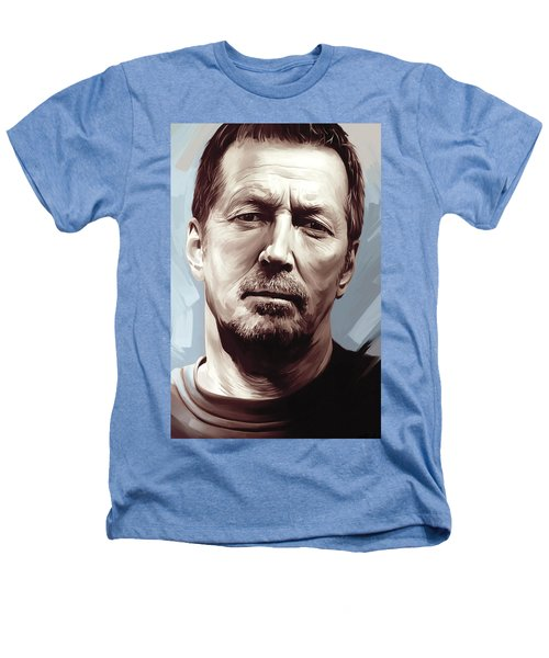 Eric Clapton Artwork Heathers T-Shirt by Sheraz A