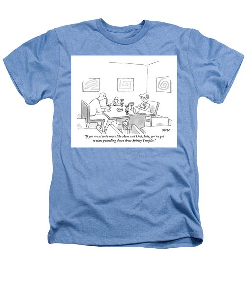 Family Around Table Heathers T-Shirt by Jack Ziegler