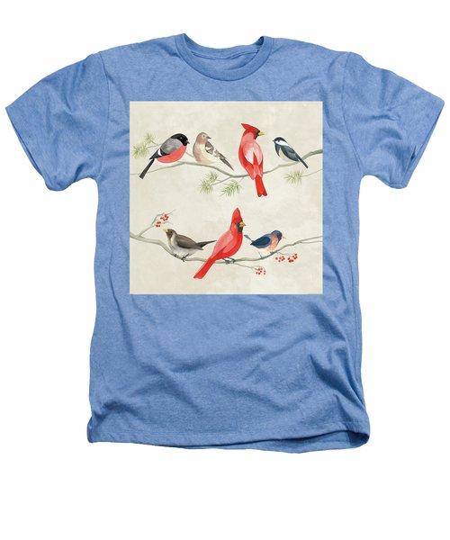 Festive Birds I Heathers T-Shirt