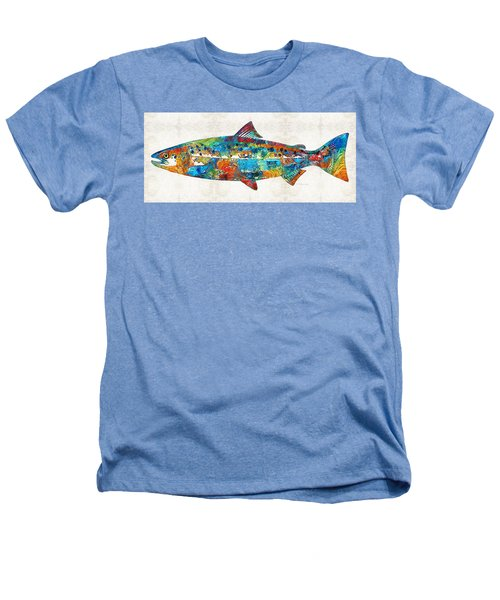 Fish Art Print - Colorful Salmon - By Sharon Cummings Heathers T-Shirt