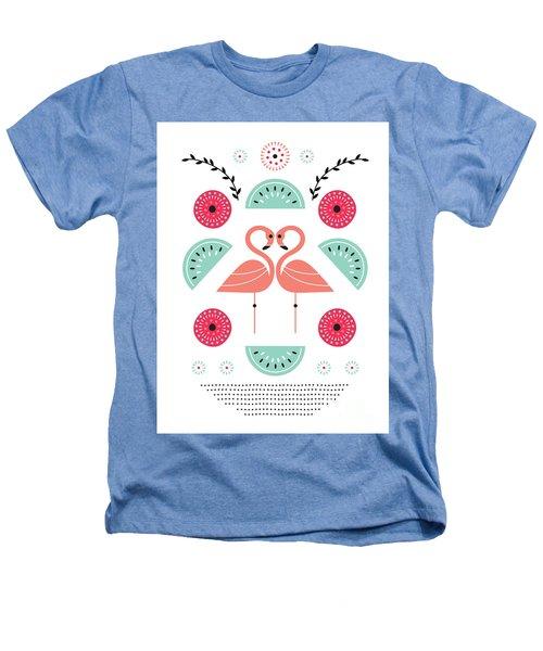 Flamingo Flutter Heathers T-Shirt by Susan Claire