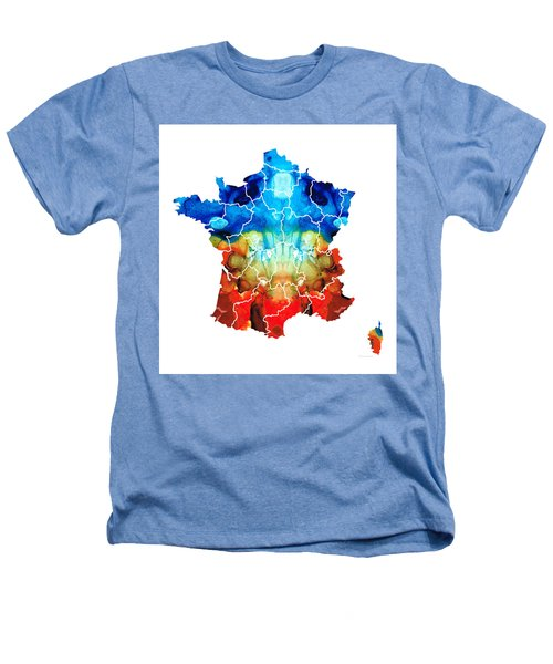 France - European Map By Sharon Cummings Heathers T-Shirt by Sharon Cummings