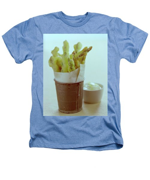 Fried Asparagus Heathers T-Shirt by Romulo Yanes