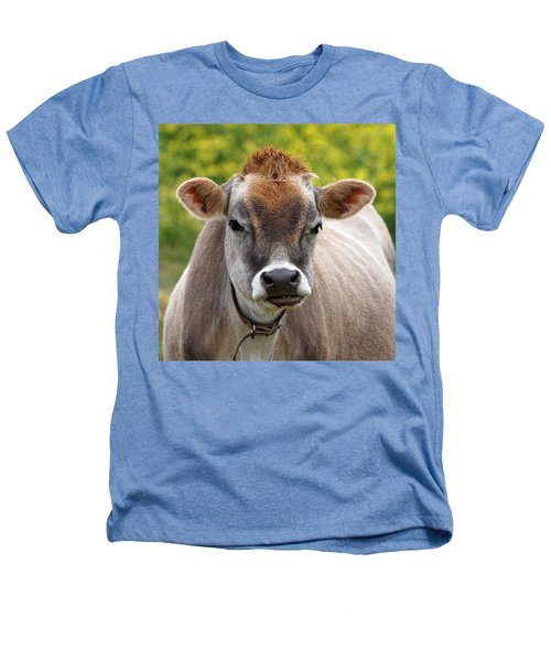 Funny Jersey Cow -square Heathers T-Shirt