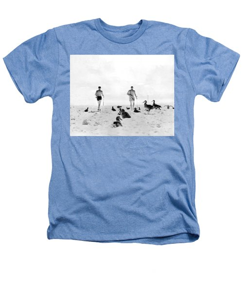 Golf With Gooney Birds Heathers T-Shirt by Underwood Archives