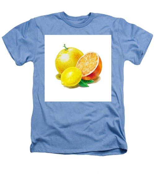 Grapefruit Lemon Orange Heathers T-Shirt by Irina Sztukowski