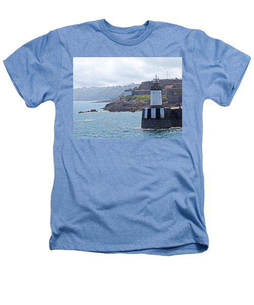 Guernsey Lighthouse Heathers T-Shirt by Gill Billington