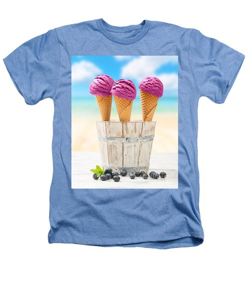 Icecreams With Blueberries Heathers T-Shirt by Amanda Elwell
