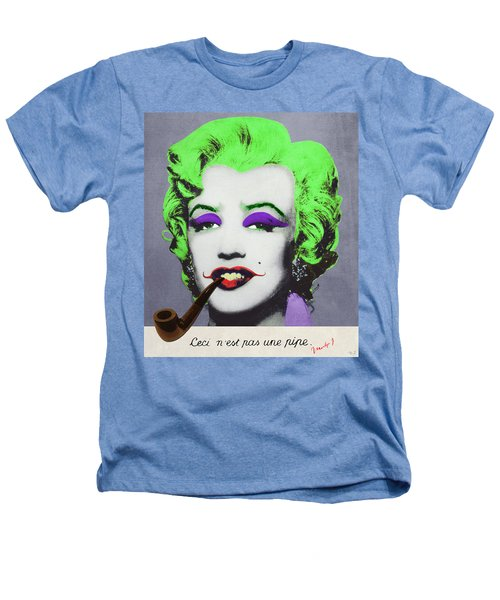 Joker Marilyn With Surreal Pipe Heathers T-Shirt by Filippo B