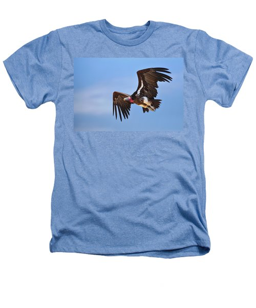 Lappetfaced Vulture Heathers T-Shirt by Johan Swanepoel