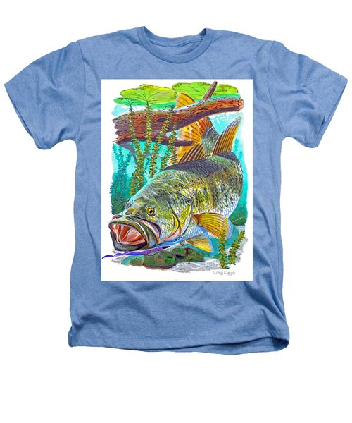 Largemouth Bass Heathers T-Shirt by Carey Chen