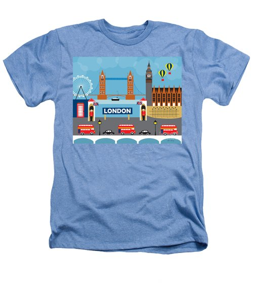 London England Skyline By Loose Petals Heathers T-Shirt by Karen Young